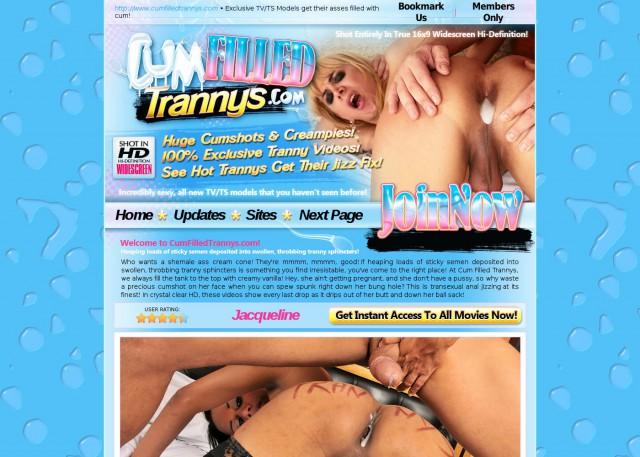 cum filled trannys