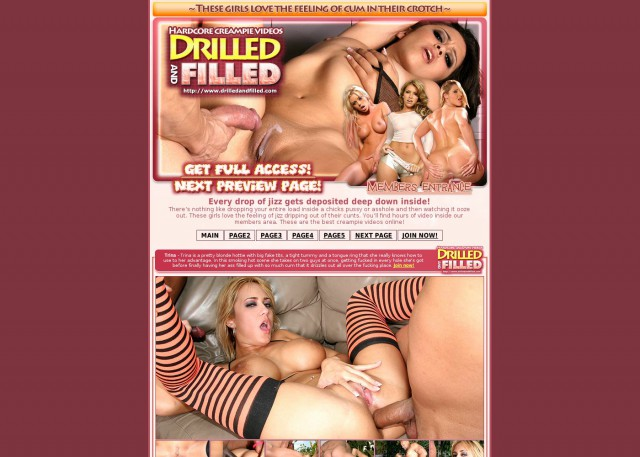 drilled and filled